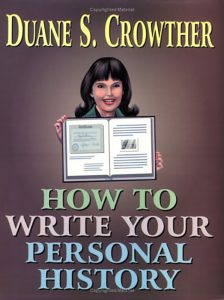 How to Write Your Personal History book cover