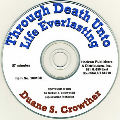 Through Death Unto Life Everlasting cd cover