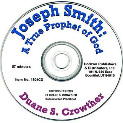 Joseph Smith: A True Prophet of God cd cover