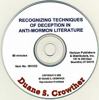Recognizing Techniques of Deception In Anti-Mormon Literature cd cover
