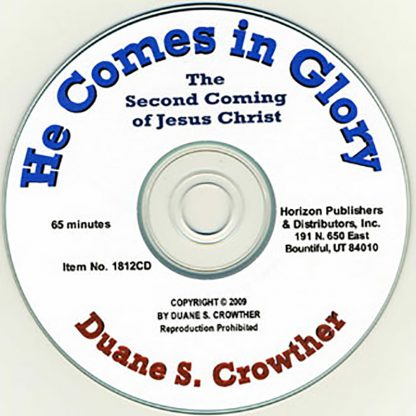 He Comes in Glory cd cover