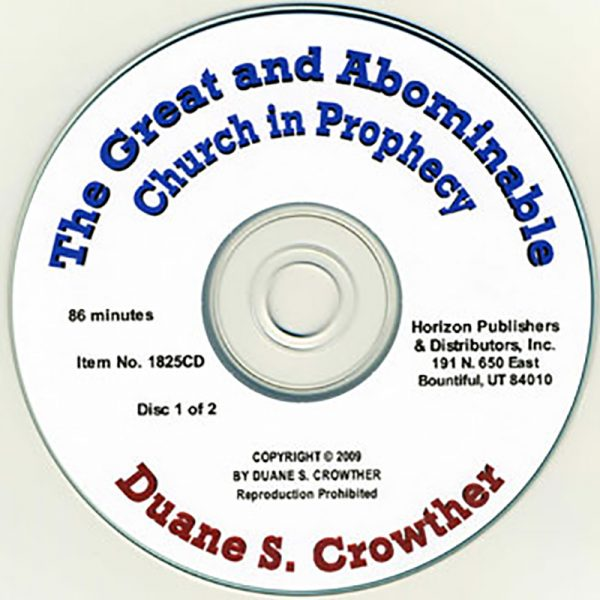 The Great and Abominable Church in Prophecy cd cover