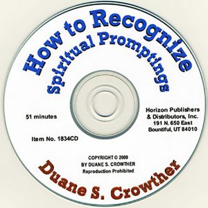 How to Recognize Spiritual Promptings cd cover