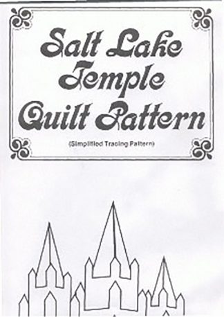 Salt Lake Temple Quilt Pattern book cover