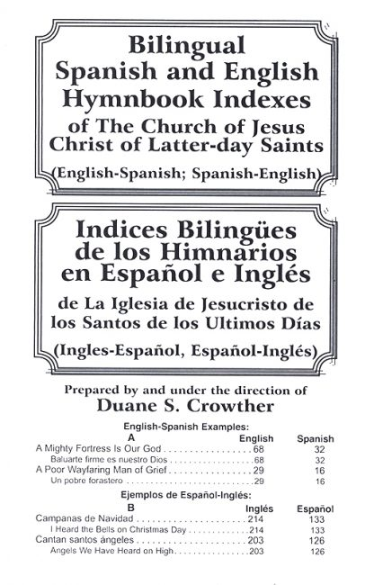 Bilingual Spanish and English Hymnbook Indexes book cover