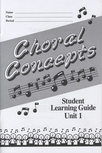 Student Learning Guide Choral Concepts book cover