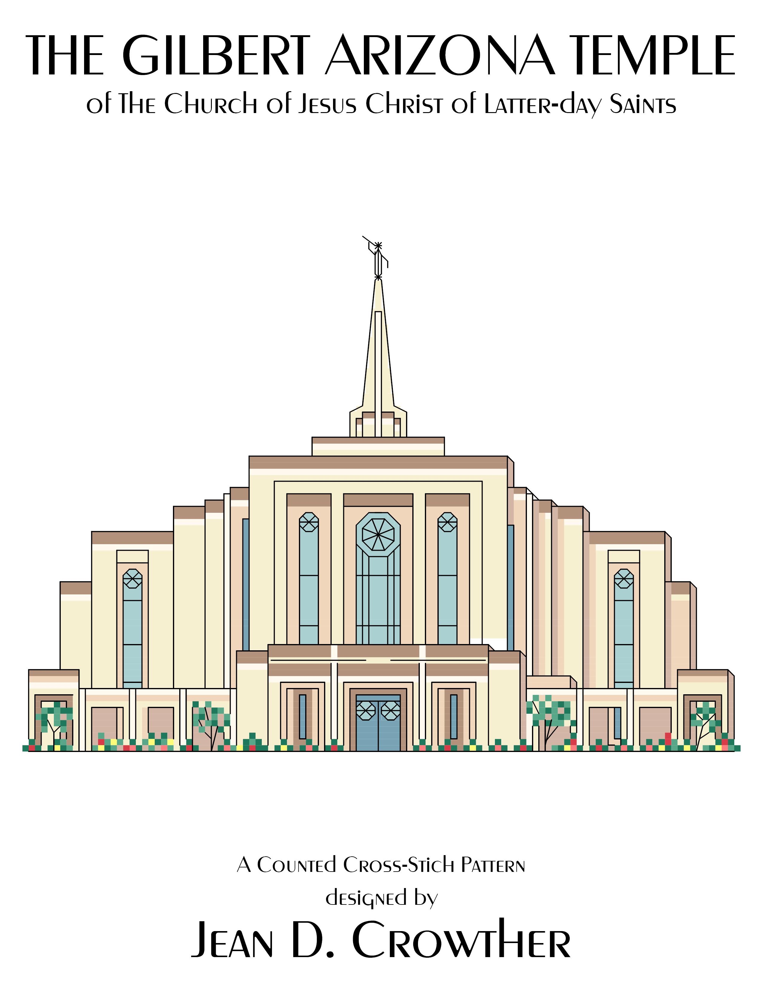 Gilbert Arizona Temple X-Stitch Pattern {Download}