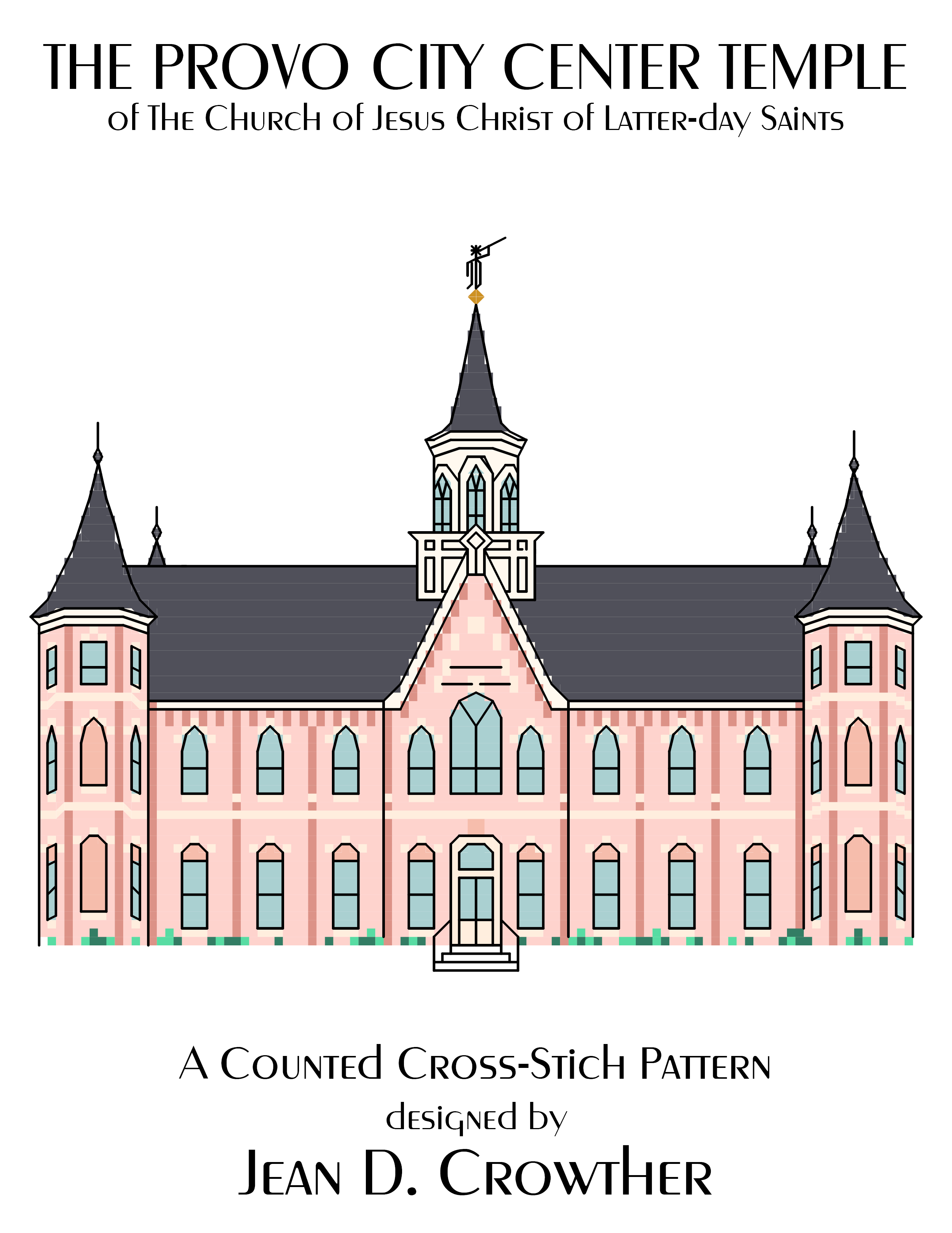 Provo City Center Utah Temple X-Stitch Pattern {Download}