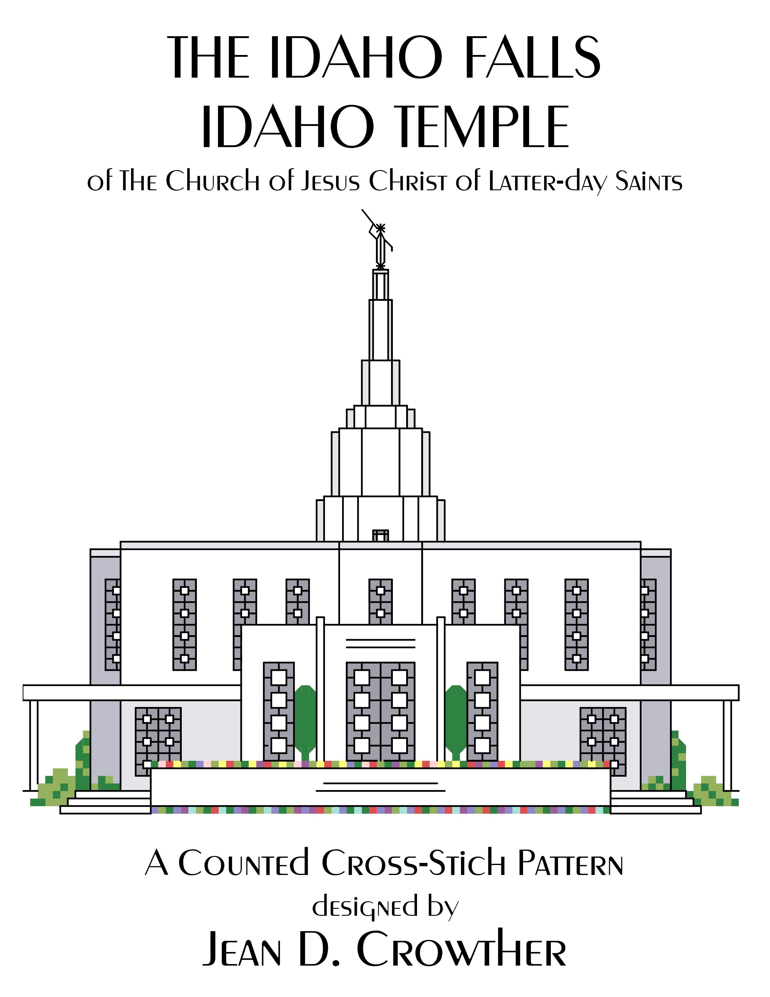 Idaho Falls Idaho Temple X-Stitch Pattern {Download}