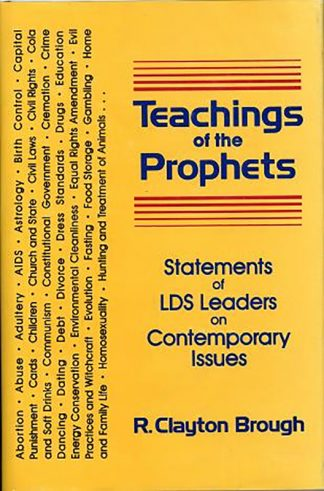 Teaching of the Prophets book cover